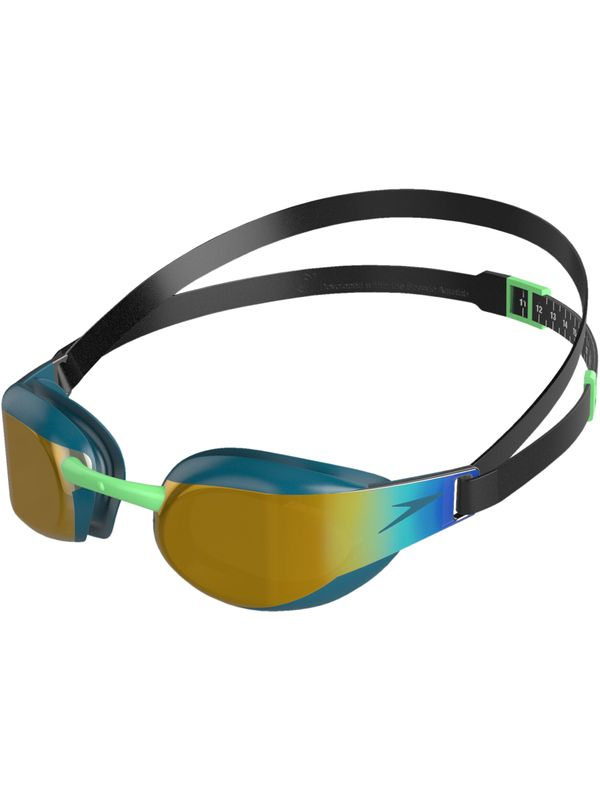 Fastskin Elite Mirrored Goggles - Black & Nordic Teal