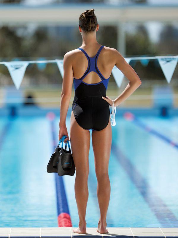 Speedo Beautiful Blue Womens One Piece Swimsuit