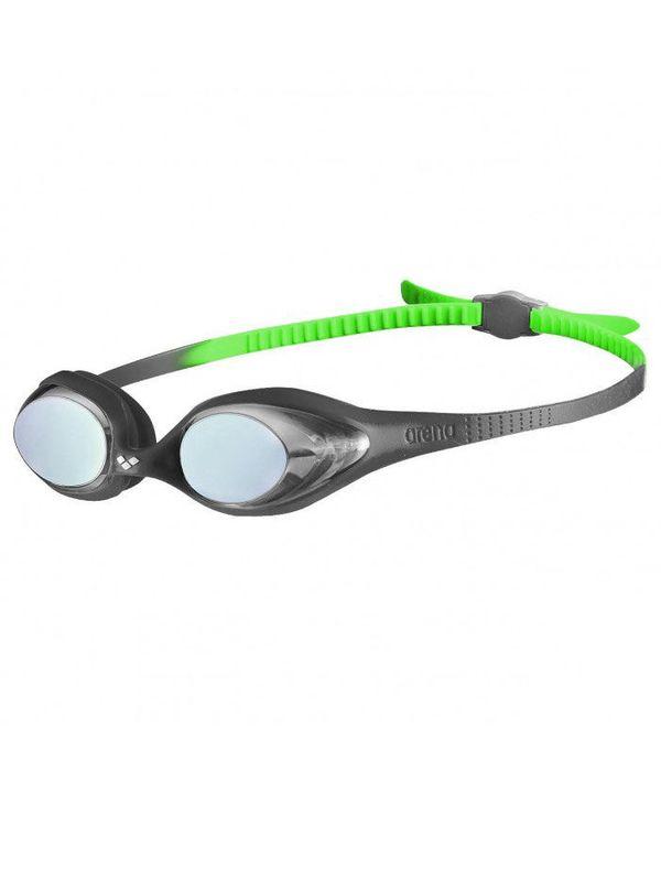 Arena Spider Junior Black, Silver & Green Mirrored Goggles 1