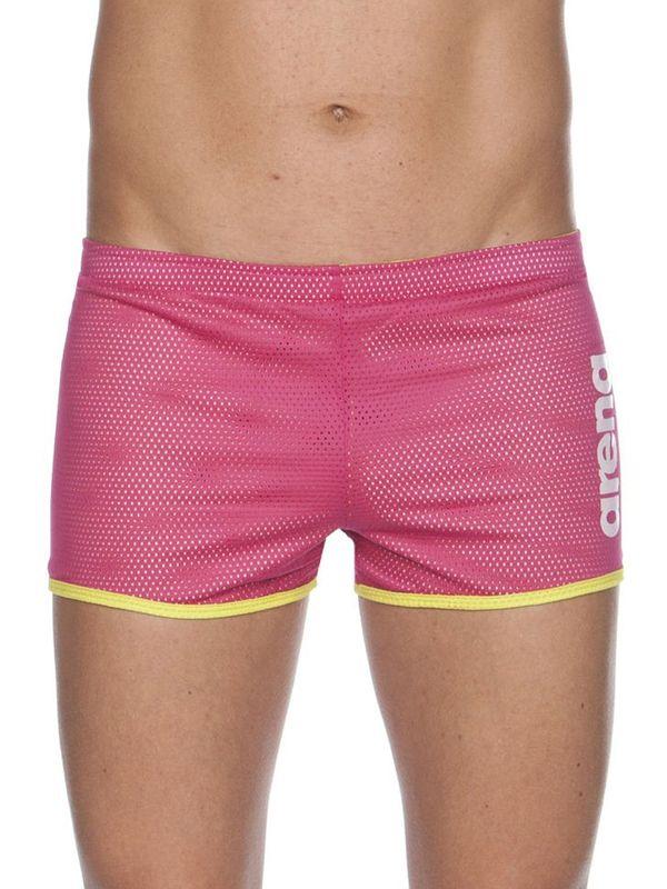 Arena Square Cut Fuchsia Drag Shorts Crop
