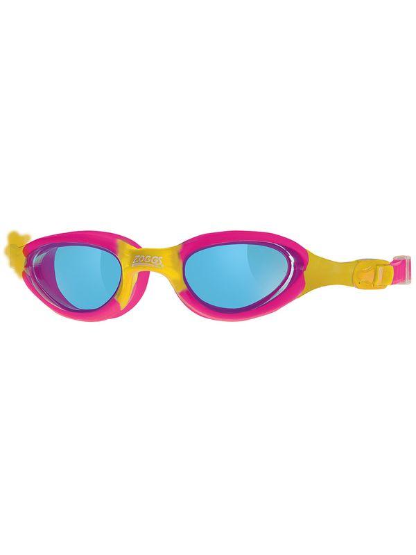 Zoggs Super Seal Pink & Yellow Junior Tinted Lens Googles