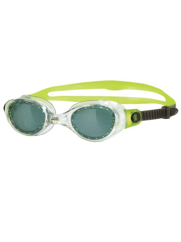 Zoggs Phantom Junior Clear & Lime Smoke Lens Goggles 1