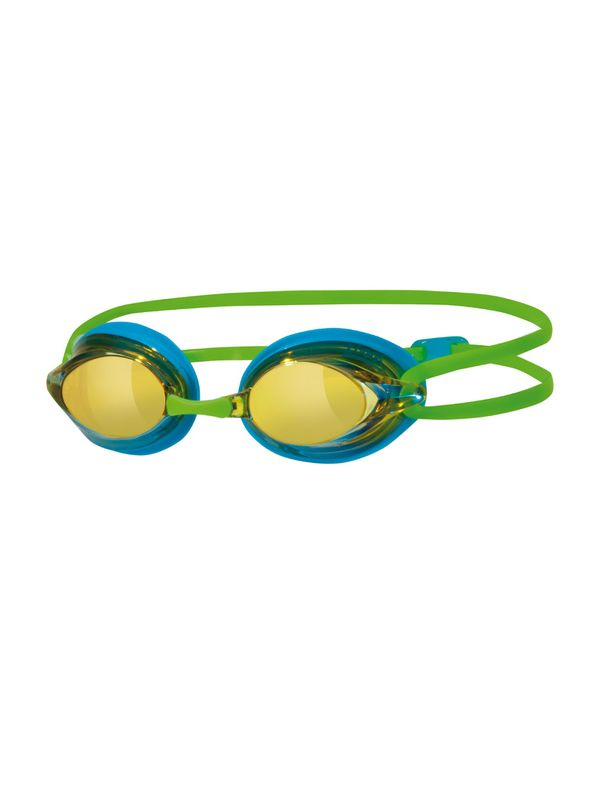 Zoggs Racespex Blue & Green Mirrored Lens Goggles