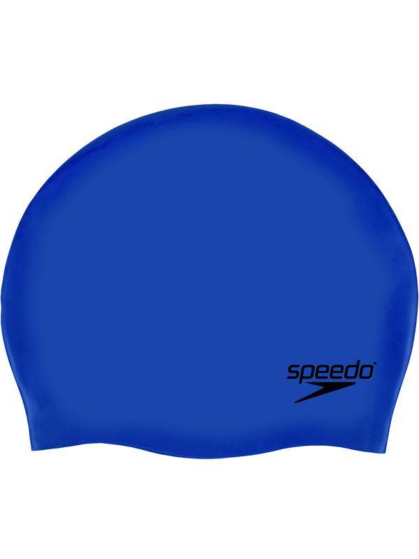 Plain Moulded Swim Cap - Blue