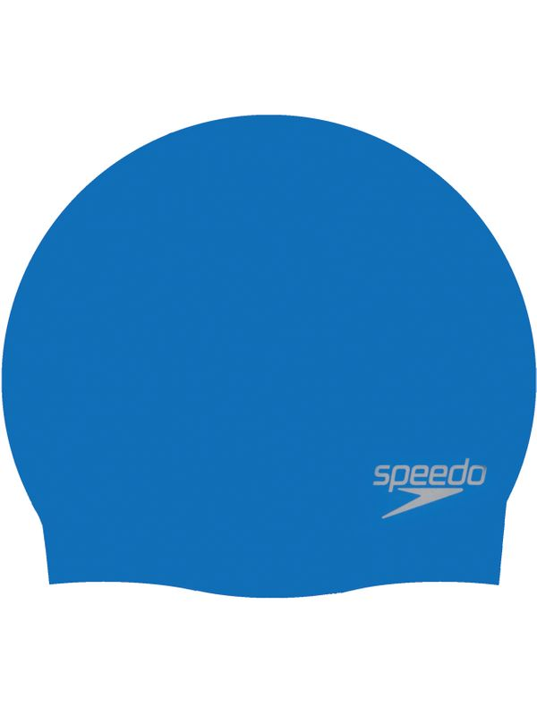 Plain Moulded Swim Cap - Neon Blue
