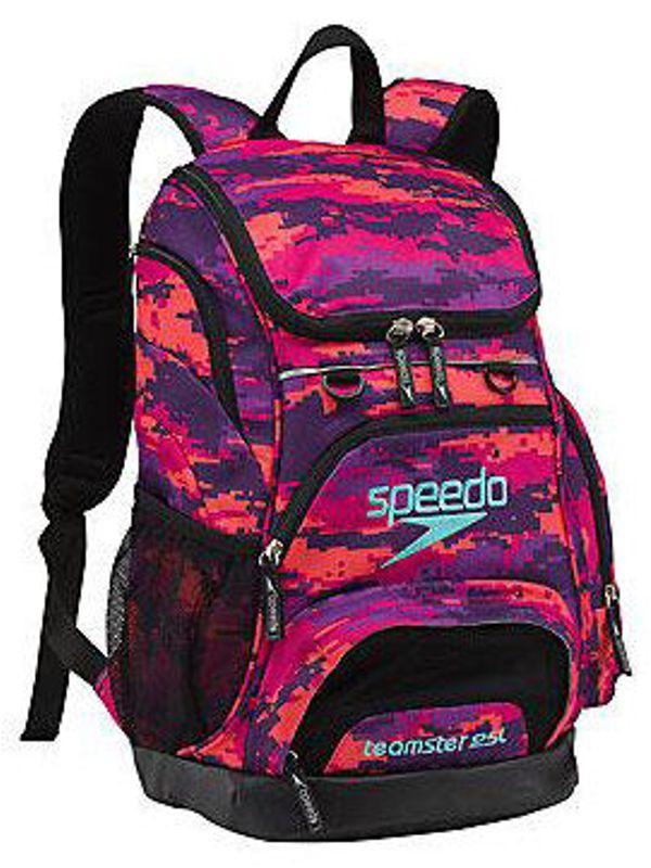 Speedo Teamster Backpack Digi Pink And Purple