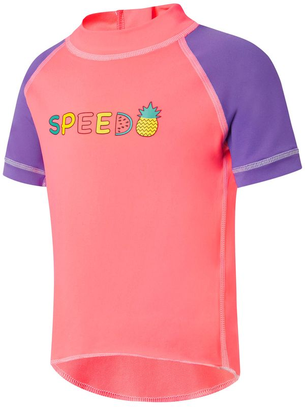 Speedo Logo Toddler Girls Sun Top 1