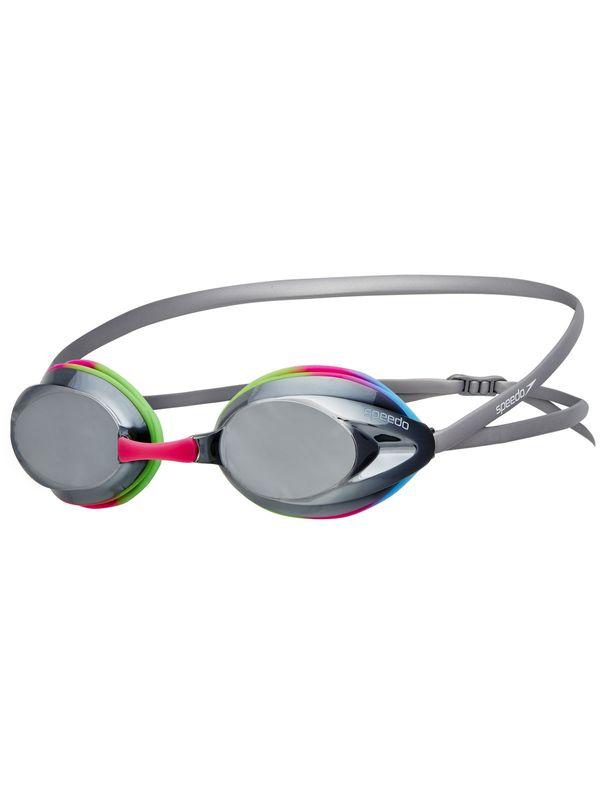 Speedo Opal Mirror Brights Pink, Blue & Green Goggles