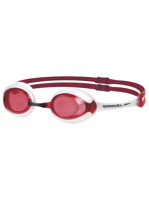Merit White & Red Lens Goggles