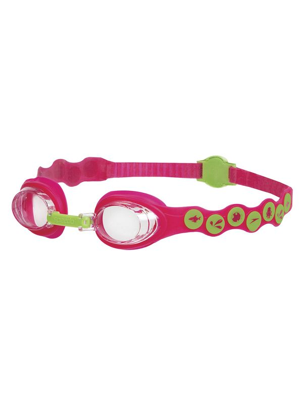 Sea Squad Pink & Green Clear Lens Goggles