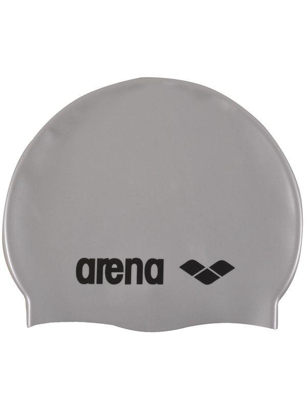 Classic Silver Junior Silicone Swim Cap