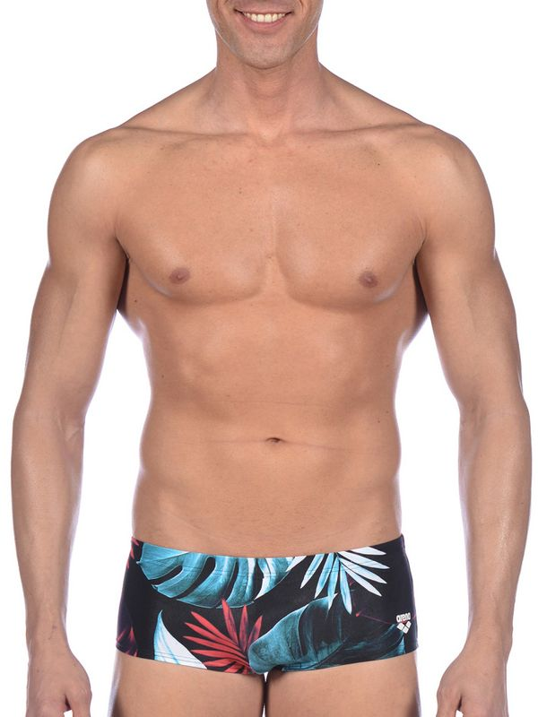 Tropical Leaves Low Waist Mens Short