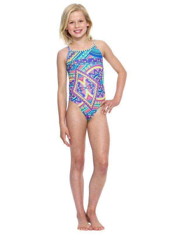 Amanzi Tribal Vibe Girls One Piece Swimsuit
