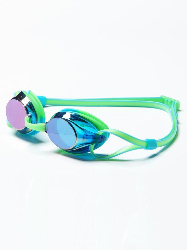 Axion Prismatic Green & Aqua Mirrored Lens Goggles