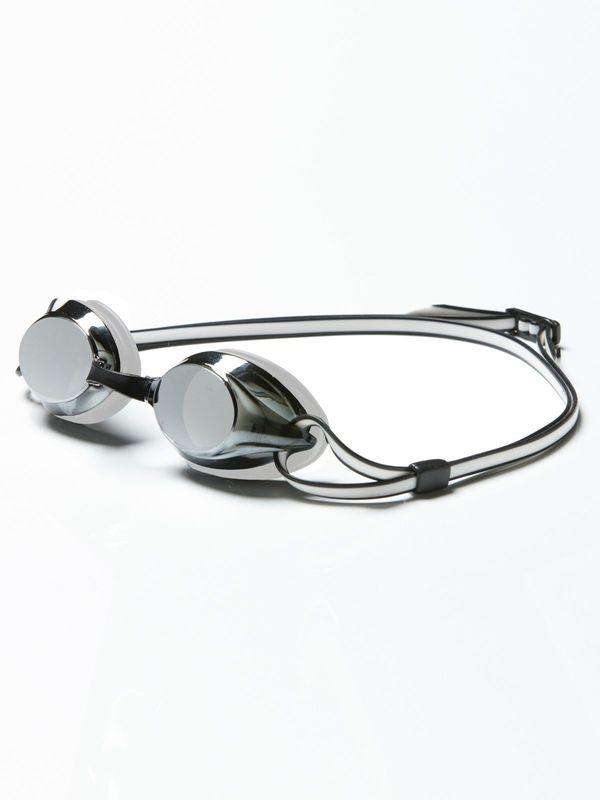 Axion Silver Black & White Mirrored Lens Goggles