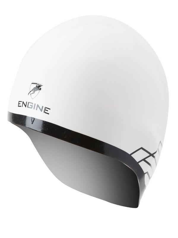 White Dome Racing Silicone Swim Cap