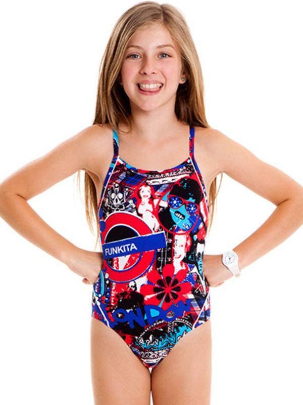 Funkita Punk Patriot Girls One Piece Swimsuit