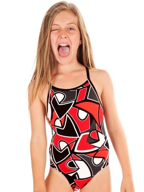 7ca85ff8945 Funkita Red Raptor Girls One Piece