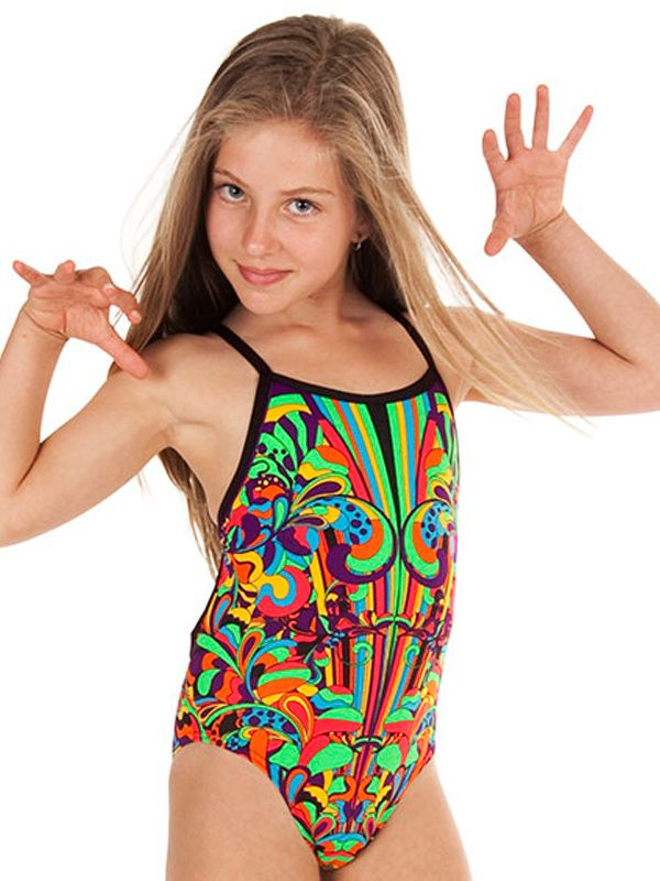 Girls Funkita Cosmic Wind One Piece Swimsuit