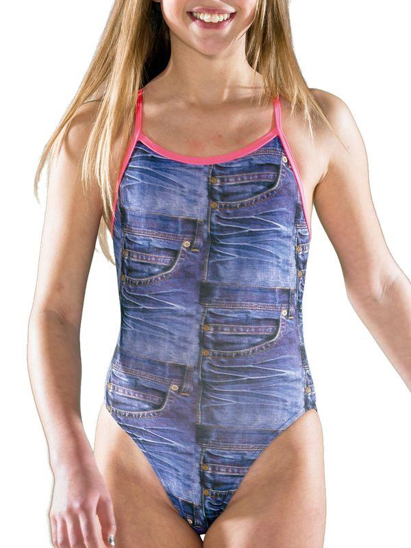 26d5a6d747 Maru Denim One Piece Swimsuit