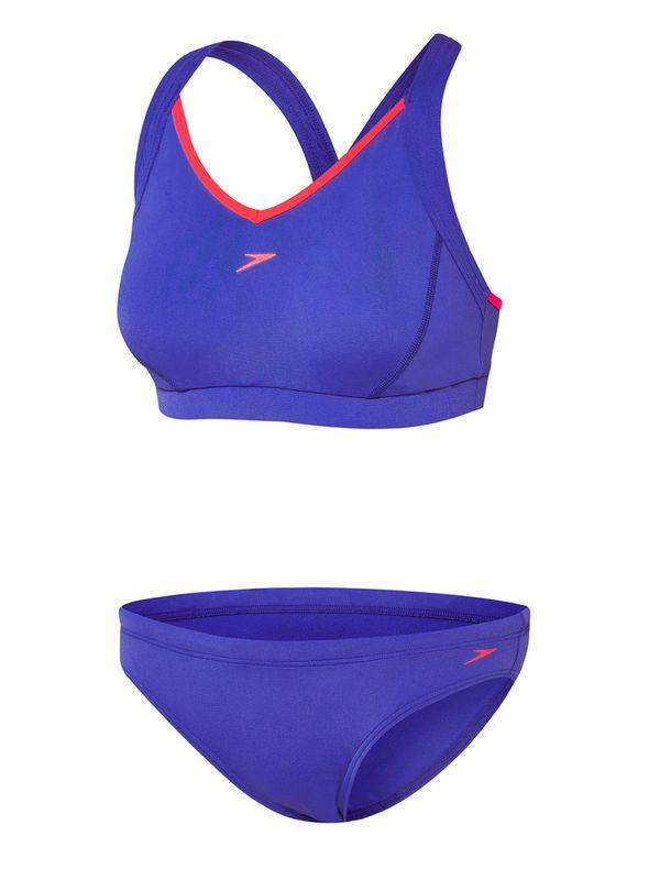 Speedo Hamptons Blue Womens Sports Bikini