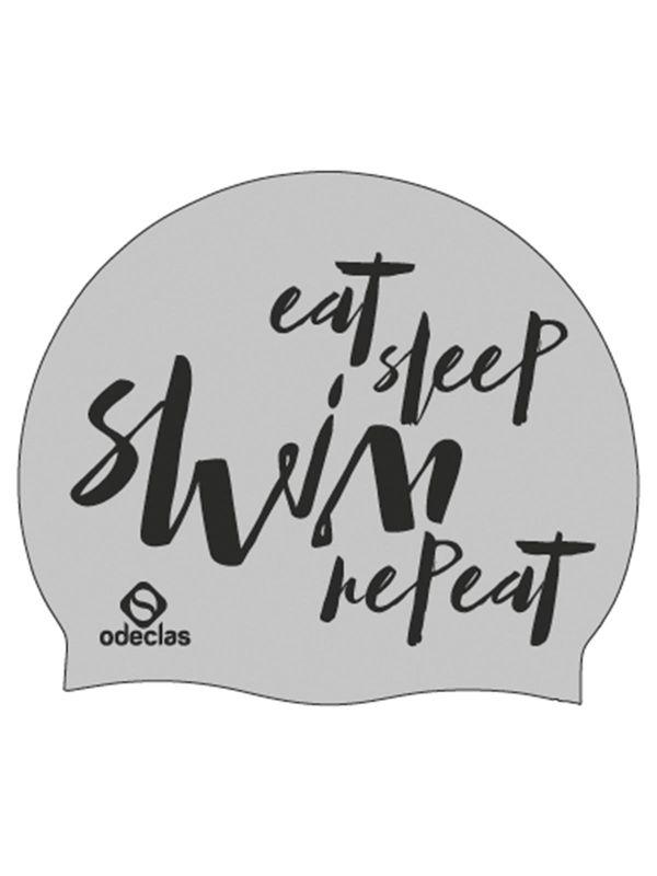 Silver Swim Cap