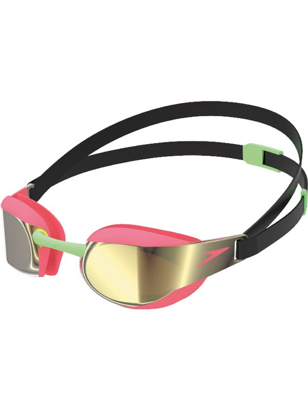 Fastskin Elite Junior Mirrored Goggles - Black & Phoenix Red