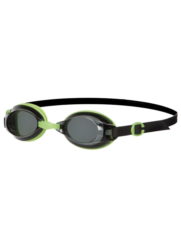 Jet Black & Green Smoke Lens Goggles