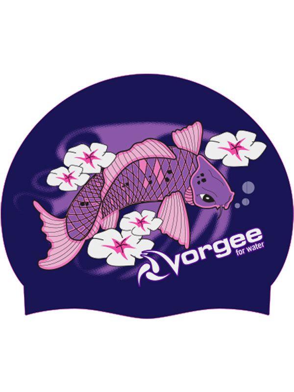 Vorgee koi fish purple swim cap for Purple koi fish for sale