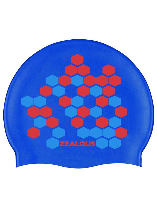 Zealous Blue Lethal Swim Cap