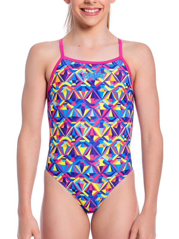 Zealous Sherbet Sparkle Girls One Piece Crop