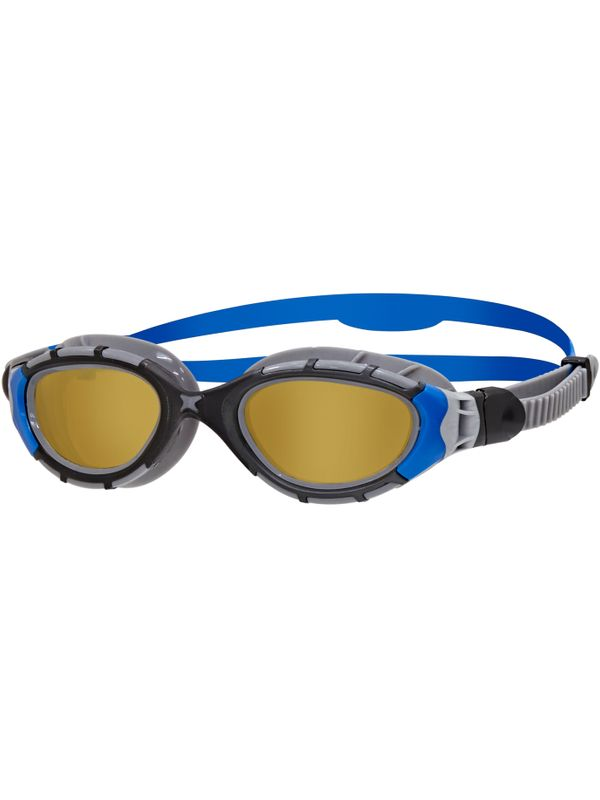 Predator Flex Polarized Ultra Goggles - Small Fit Black & Blue