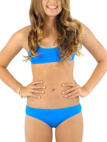 Plain Blue Bikini 53