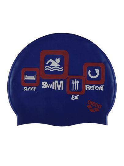 Arena Swim Navy Silicone Swim Cap