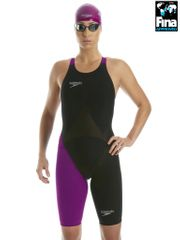 Speedo LZR Racer Elite 2 Black & Purple Kneelength