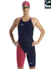 Speedo LZR Racer Elite 2 Navy & Pink Kneelength