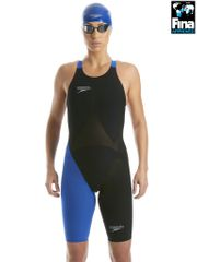 Speedo LZR Racer Elite 2 Black & Blue Kneelength