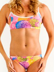 Zealous Candy Carnival Womens Sports Bikini