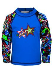 Funky Trunks Disco Steve Toddler Boys Sleeved Rash Shirt