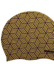 Tornado Kaleidoscope Yellow Swim Cap