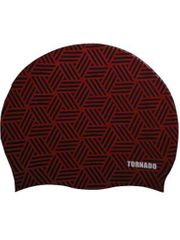 Tornado Kaleidoscope Red Swim Cap