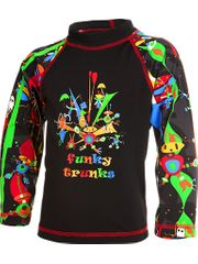Funky Trunks Black Stig Toddler Boys Sleeved Rash Shirt
